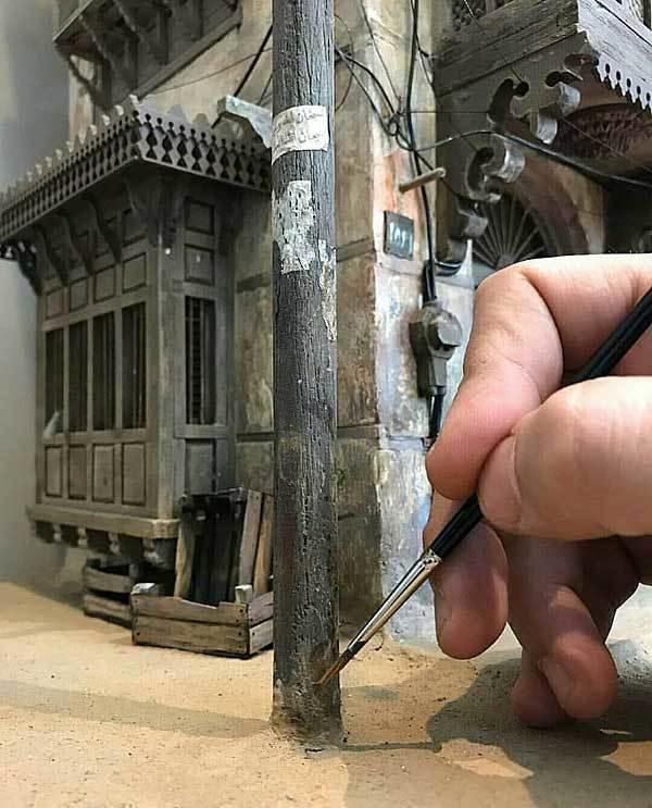 Потрясающий миниатюрный арт от сирийского художника Абдулрахмана Ида... Художник, Миниатюра, Современное искусство, Ручная работа, Улица, Дом, Старый город, Длиннопост