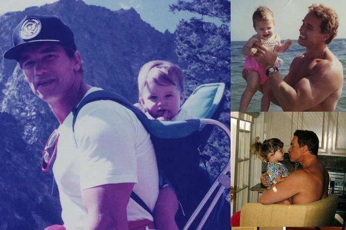 Хороший отец - Арнольд Шварценеггер Арнольд Шварценеггер, Знаменитости, Актеры, Родители и дети, Фотография, Длиннопост