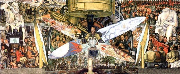 Как Рокфеллеры прокололись на дружбе с мексиканским коммунистом Фрида Кало, Рокфеллер, История искусств, Художник, Мурализм, Длиннопост