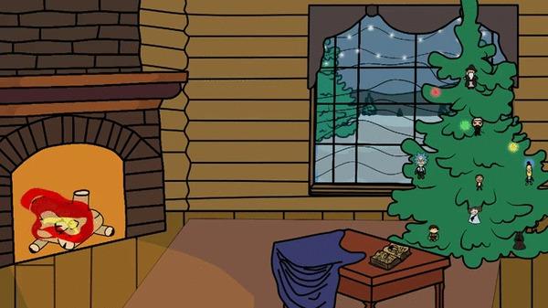 Уже совсем скоро Анимация, Новый Год, Дед Мороз, 2D анимация, Гифка