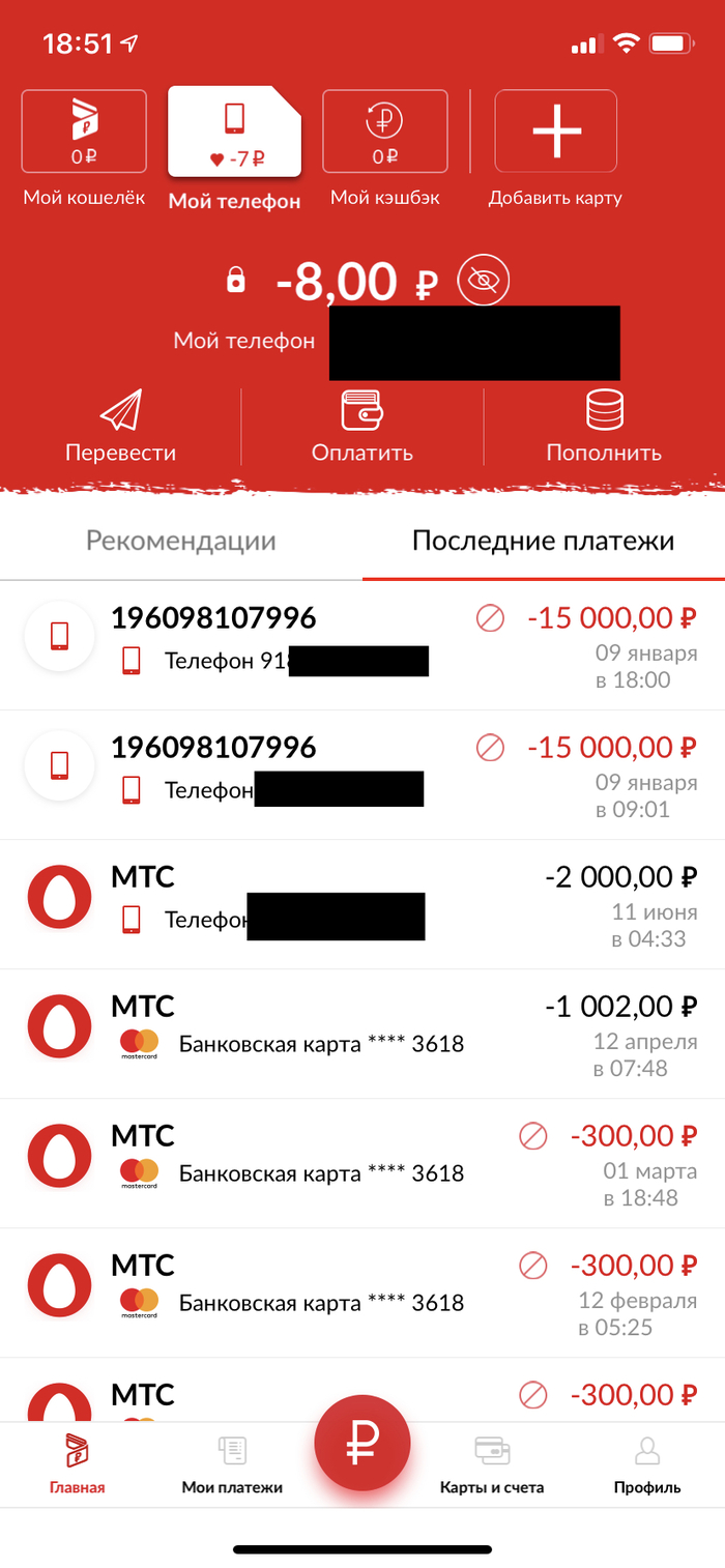 мтс банк перерасчет кредита