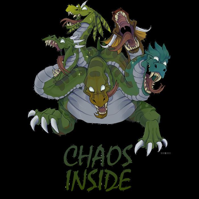 Гидра Хаоса из комикса Koda для принта, делал для себя