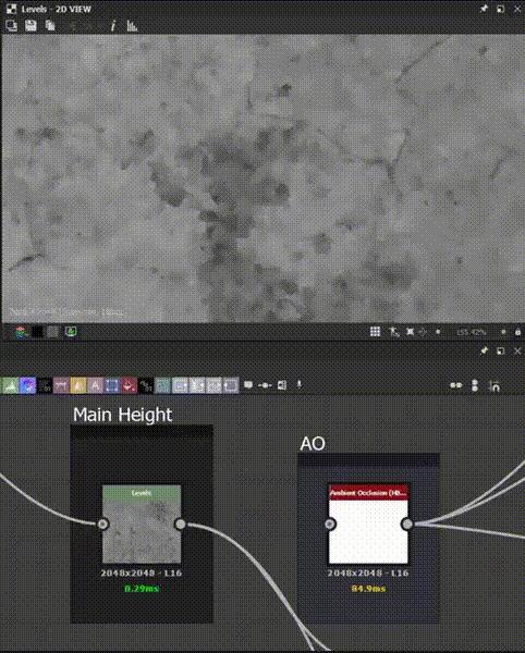 Делаем бетон в Substance Designer. Часть 2 3D, 3D моделирование, Текстуры, Substance Designer, Textures, Компьютерная графика, Gamedev, Игры, Гифка, Длиннопост