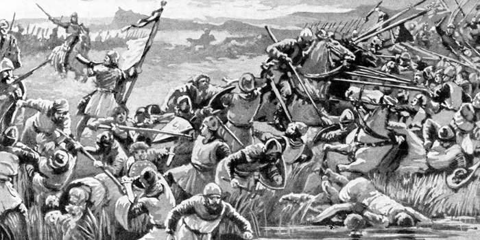 Удача, полководческий талант и дурость противника: пять неравных битв Средневековья История, Война, Армия, Рыцарь, Франция, Англия, Италия, Длиннопост