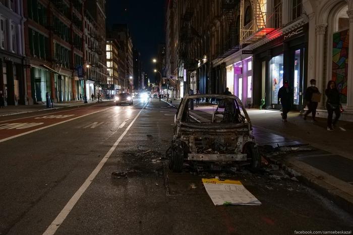 Судная ночь в Нью-Йорке США, Полиция США, Беспорядки, Длиннопост, Смерть Джорджа Флойда, Samsebeskazal