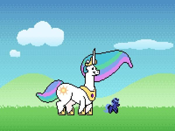 Как-то так это пройзошло My Little Pony, Princess Luna, Princess Celestia, Гифка