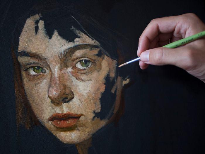 Пишу портрет, день второй