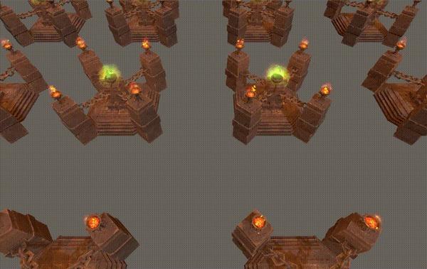 Warcraft 3 Кастомки на Unity. ElementalsFight. Часть 2 Warcraft 3, Unity, Unity3d, Игры, Компьютерные игры, Dota, Разработка, Инди, Инди игра, Gamedev, Гифка, Длиннопост