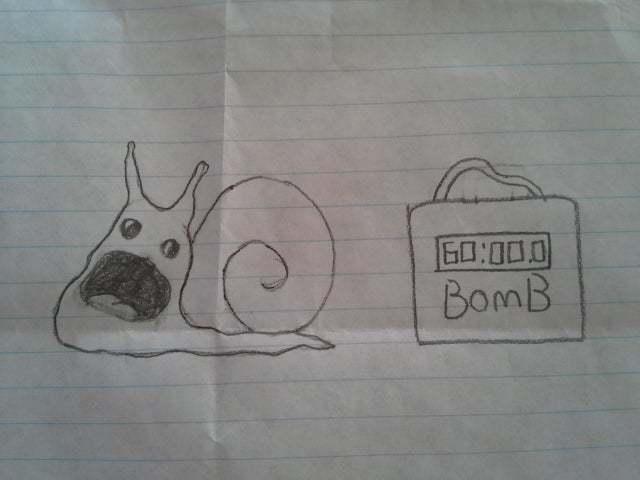"""""""Рисунок сына в пятом классе"""""""