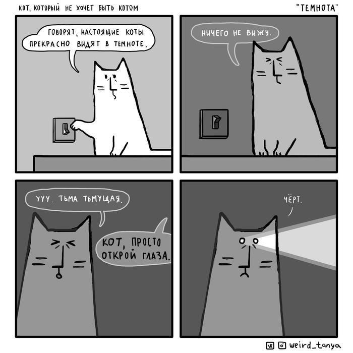 Кот, который не хочет быть котом 22 quotТемнотаquot