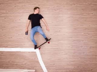 Ответ на пост «Около трёх дней провел на полу для съёмки видео» Скейт, Пол, Гифка, Ответ на пост