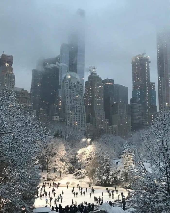 Зимний Нью-Йорк Нью-Йорк, Зима, Каток, Фотография, Рождество, Новый Год, Путешествия, Центральный парк