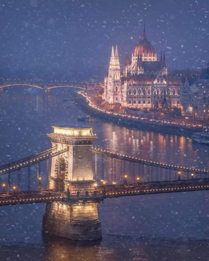 Снежный Будапешт