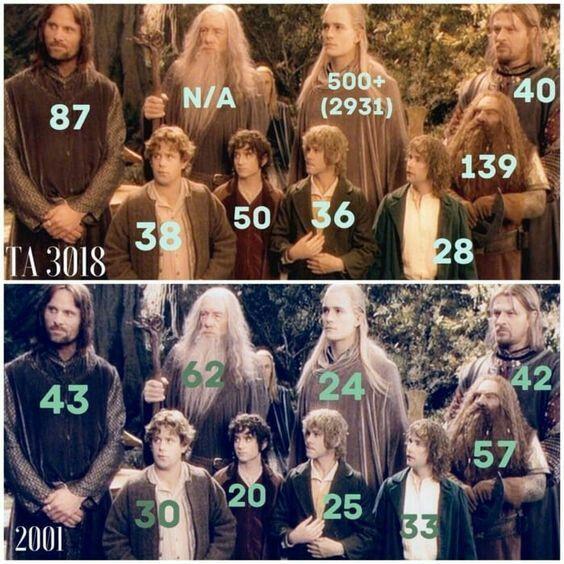 Лишь Боромир выглядит на свой возраст Властелин колец, Возраст, Толкин, Сравнение, Средиземье, Хоббит, Эльфы, Гномы
