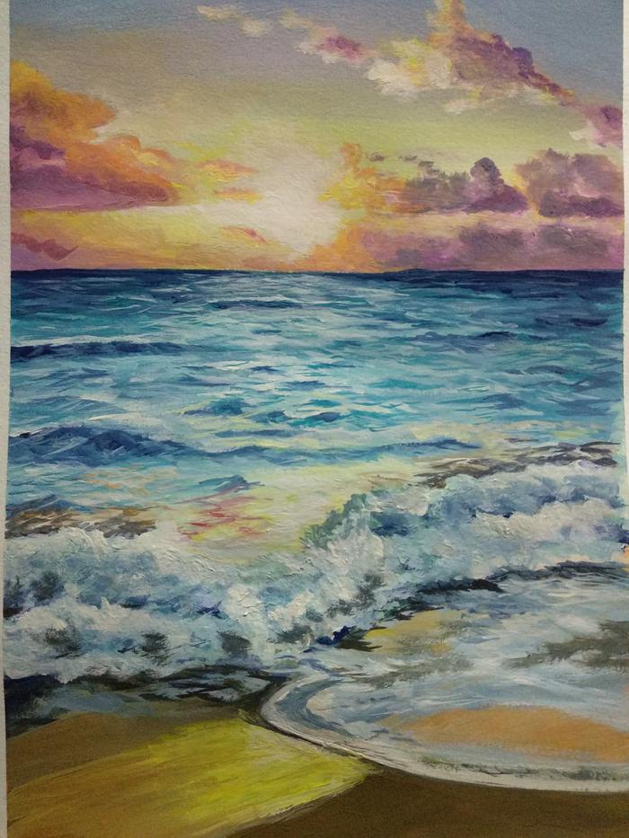 Морской закат, ещё один вариант моря и солнца