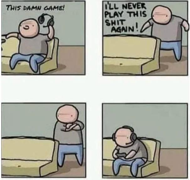 Эта чёртова игра! Я никогда не буду играть в неё снова!