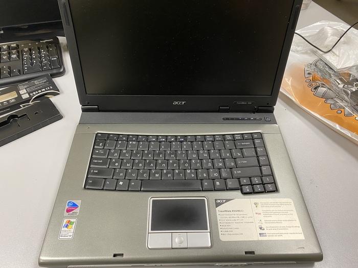 ACER TravelMate 4502 - апгрейд 17-летнего ноутбука Ziksus, Компьютерное железо, Старое железо, Ноутбук, Ретро, Windows XP, Windows 7, Длиннопост
