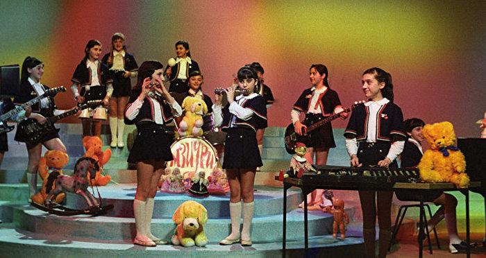 K-ON по-советски СССР, Грузия, Концерт, Мзиури, Видео, Прошлое, Ностальгия, 70-е, 80-е, Длиннопост, Дети