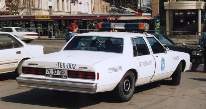 Автомобиль ДПС. Приморский край, середина 1990-ых