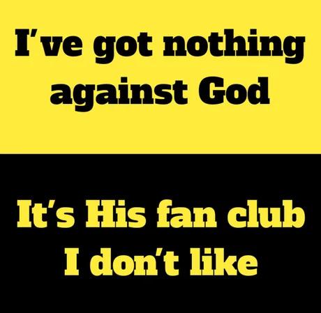 Я не имею ничего против бога