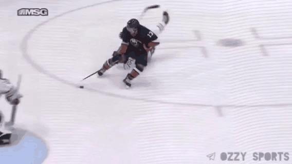 Великолепный гол Мэтью Барзэла в ворота Баффало Спорт, Хоккей, НХЛ, Гол, Финт, Гифка