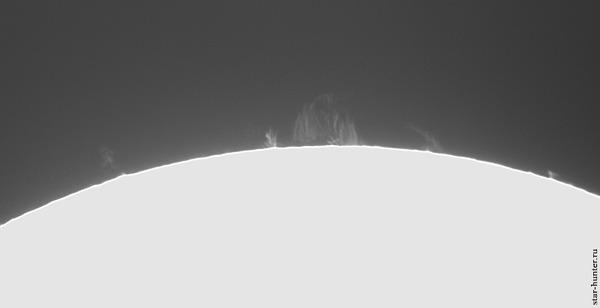 Солнечные протуберанцы, 15 марта 2021 года Солнце, Астрофото, Астрономия, Космос, Протуберанцы, Starhunter, Анапа, Анападвор, Гифка