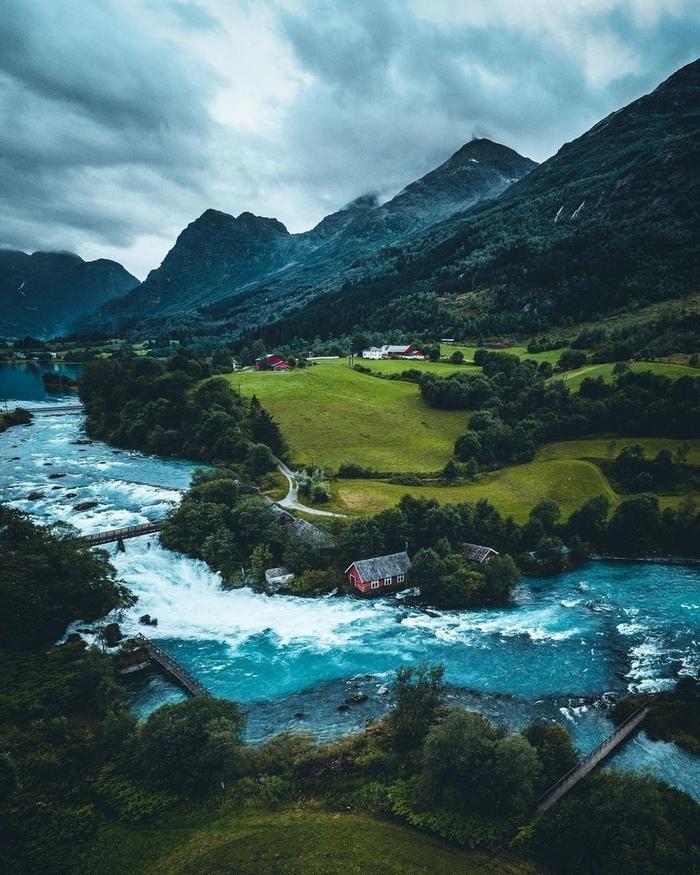 Норвегия Фотография, Норвегия, Природа, Горы, Река, Красота, Красота природы, Европа
