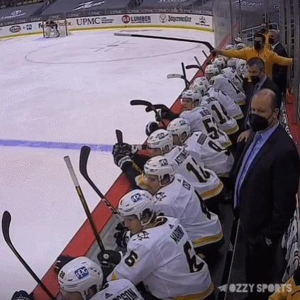Командная работа Спорт, Хоккей, НХЛ, Сидни Кросби, Гол, Помощь, Клюшка, Гифка