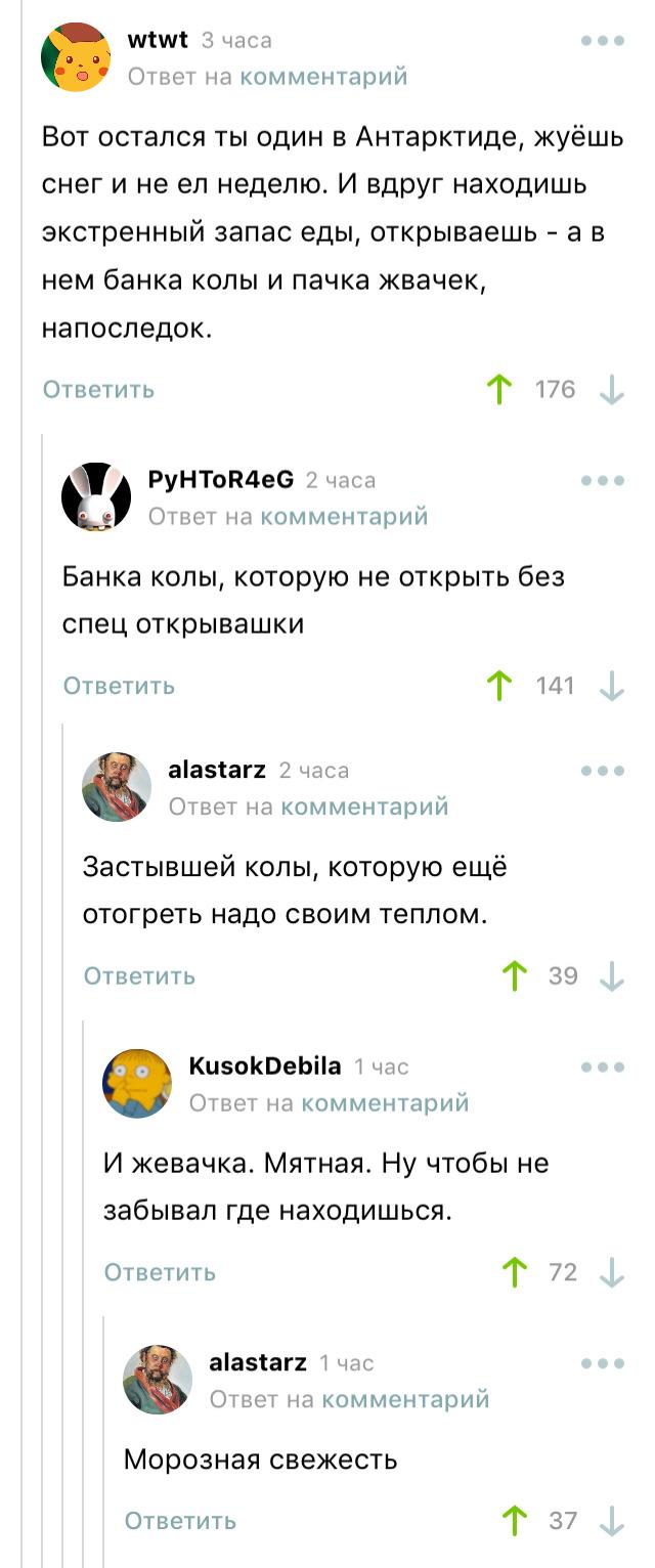 Экстренный запас еды)