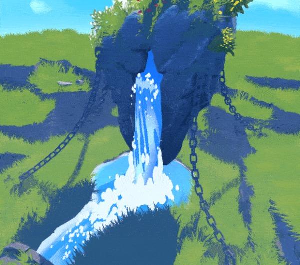 Парящие Острова: настраиваем стилизованные шейдера с помощью HDRP в Unity Разработка, Игры, Madewithunity, Indiedev, Gamedev, Game Art, Unity, 3D, Компьютерная графика, Гифка, Длиннопост