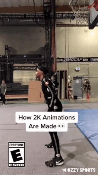 Анимация в NBA 2K Спорт, Баскетбол, NBA 2k, Компьютерные игры, Гифка