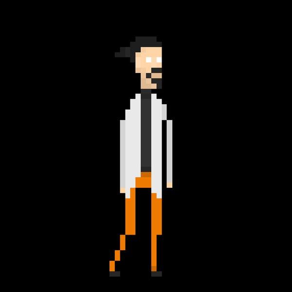 Ученый | Лаборант | Анимация ходьбы