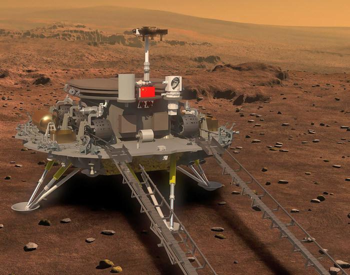 Китайский аппарат Тяньвэнь-1 совершил посадку на Марс