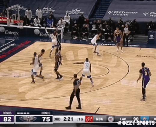 Кайл Кузма делает всё сам Спорт, Баскетбол, NBA, Данк, Гифка