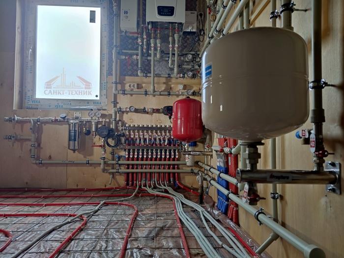 23 мая 2021 года. ФЕДОРОВСКОЕ, часть 2 Монтаж систем отопления, Проект, Строительство, Технологии, Трубопровод, Ремонт, Сантехника, Коттедж, Длиннопост