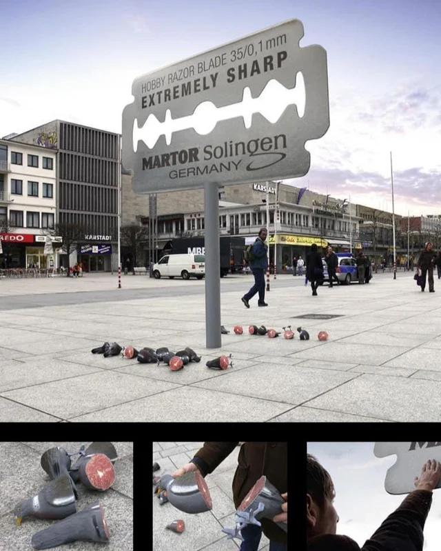 Реклама бритвенного лезвия в Германии