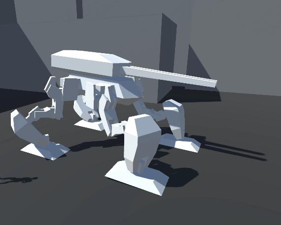 О шагающих танках 3D, Unity, Рукоделие без процесса, Видео, Гифка, Длиннопост