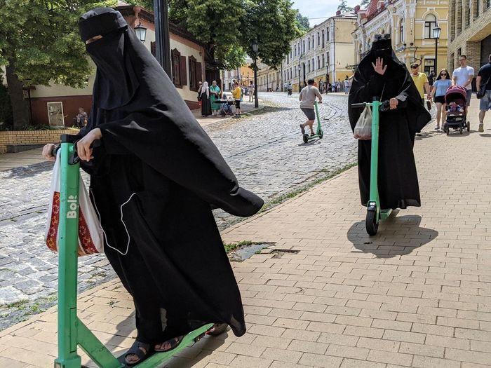 Летнее настроение Киев, Арабы, Паранджа, Украина