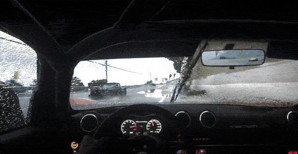 DriveClub - физика воды на лобовом стекле ( часть 2 - Больше гифок. ) Физика, Вода, Гифка, Длиннопост