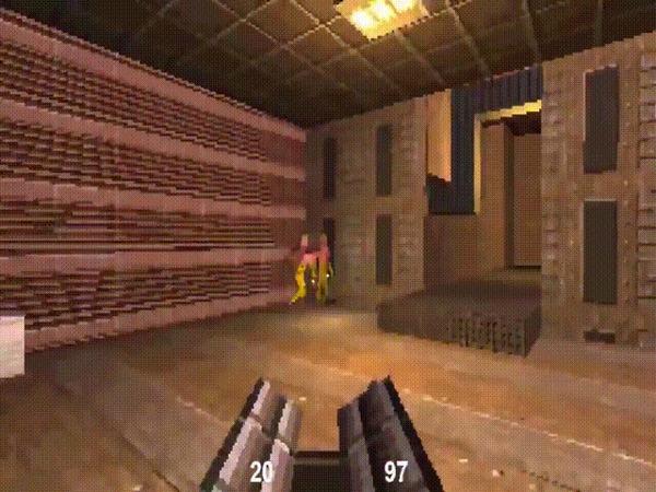 Разработчик за месяц сделал шутер в духе Quake, который весит всего 13 КБ Компьютерные игры, Javascript, Шутер, Гифка