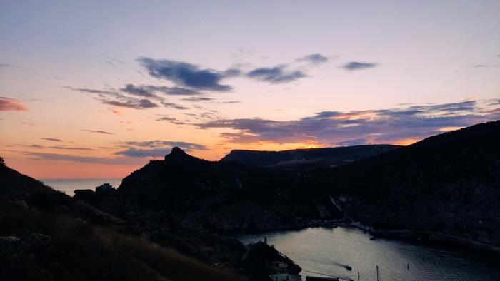 Севастополь, закат над Балаклавой