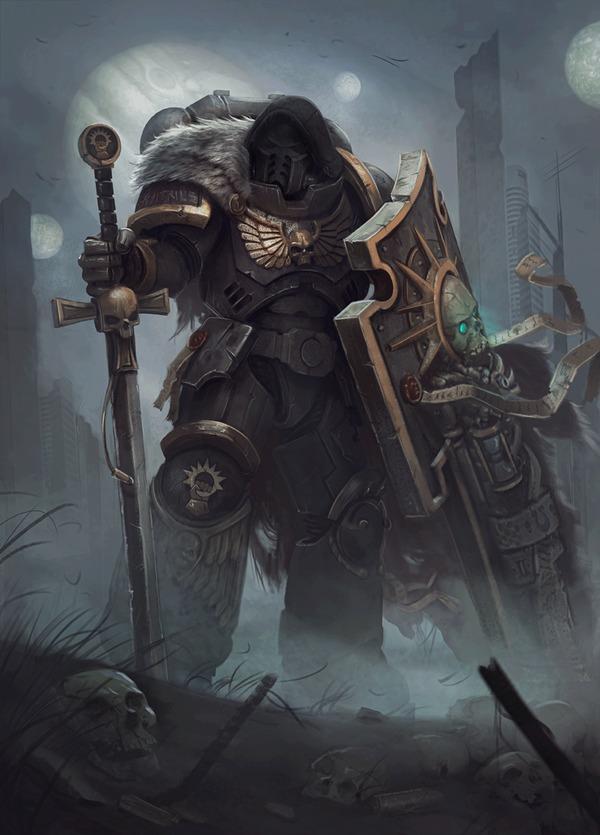 Wh40K Art byVictor G Adepta Sororitas, Adeptus Astartes, Wh Art, Warhammer 40k, Гифка, Длиннопост