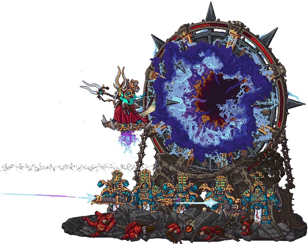Pixel Wh40k gifs bySteelJoe Steeljoe, Thousand Sons, Warhammer 40k, Wh Art, Imperium, Tau, Орки, Eldar, Гифка, Длиннопост, Tyranids, Sisters of Silence, Astra Militarum, Adeptus Astartes, Imperial Knight, Pixel Art