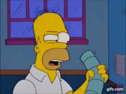 14 октября - Всемирный день зрения Симпсоны, Гомер Симпсон, Зрение, Глаза, Гифка