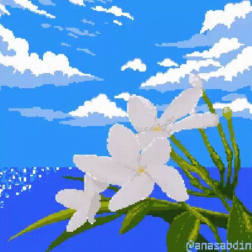 Pixel Art byAnas Abdin Pixel Art, Арт, Гифка, Видео, Длиннопост