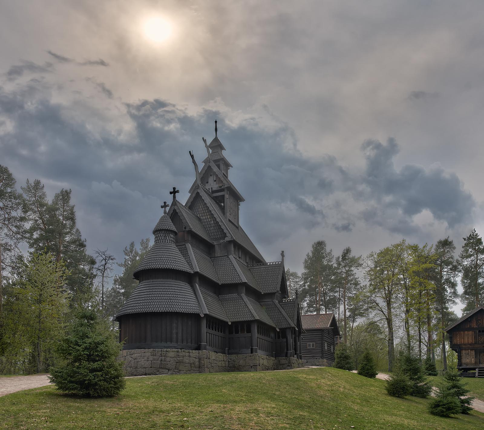 Обои Норвегия, деревянная, церковь. Разное foto 14