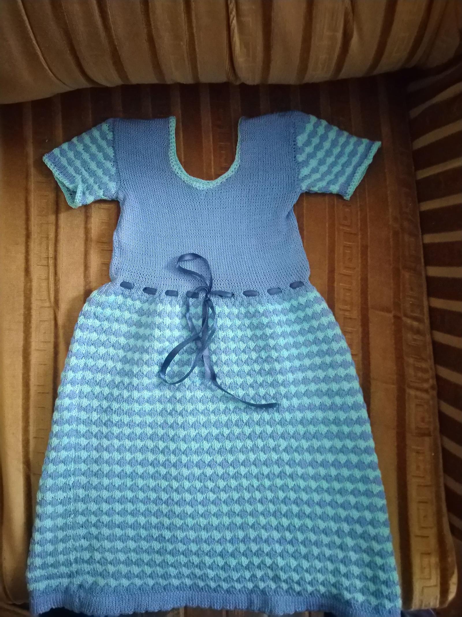 летние платья на девочку 2 года на вязальной машине нева 2