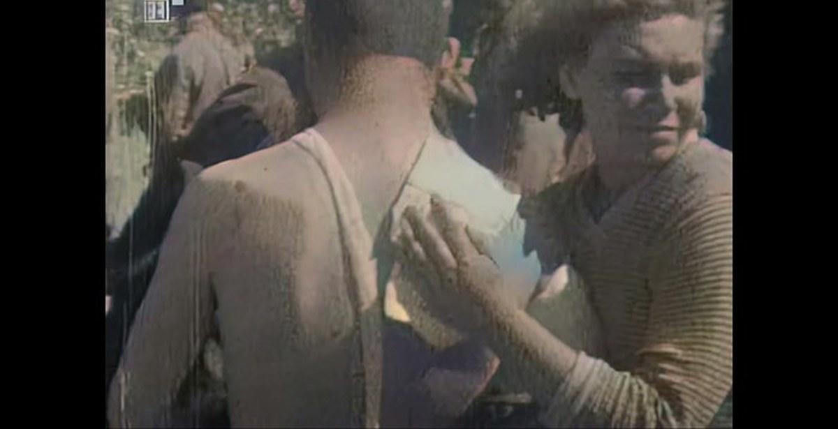 Советские военнопленные под Севастополем, 1942 год(цветная кинохроника без озвучки)